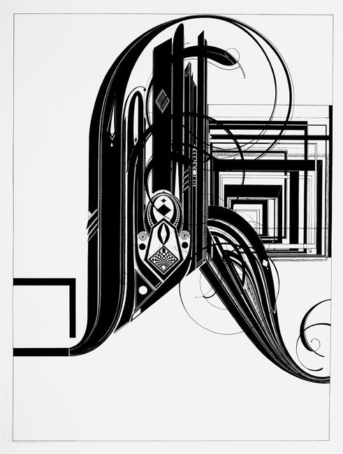 R - 127x96cm Inkt op papier