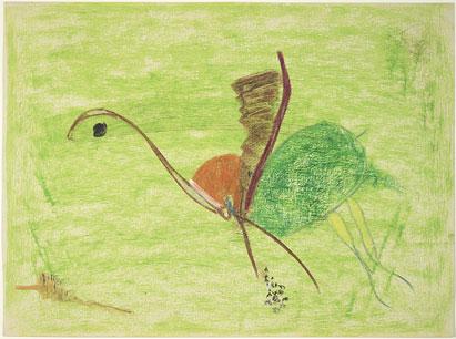 Untitled - 15x20inch Wasco en oliekrijtjes op papier