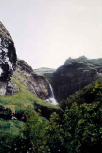 Wasserfall/ Waterfall, 1997, 165 cm X 110 cm, Oil on linen