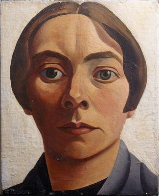 Zelfportret - 33x27cm Olieverf op doek