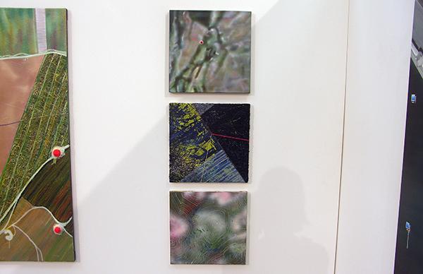 Aquil Copier - Geen Titel (van de serie blurred landscapes) - 40x40cm Olieverf en airbrush op doek