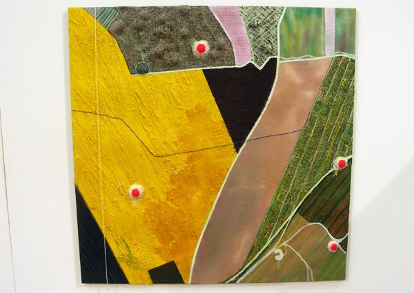 Aquil Copier - Mapping Landscapes #2 - 130x150cm Olieverf en airbrush op doek