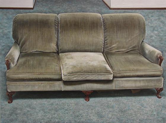 Couch - 18x24inch Olieverf op linnen op paneel