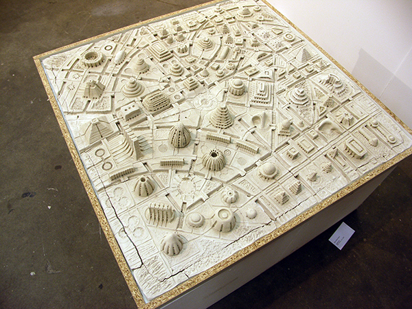 Mark Robert Peters - Utopian City - 100x100cm