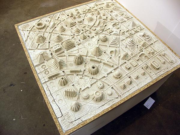 Mark Robert Peters - Utopian City - 100x100cm