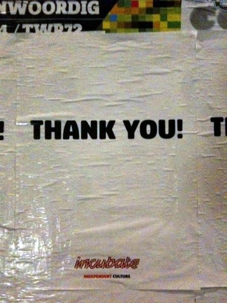 Thank You Incubate