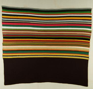 United Nations - 220x230cm Handgebreide wol op linnen