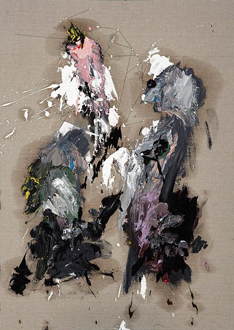 Untitled 1.19 - 105x75cm Olieverf en grafiet op linnen