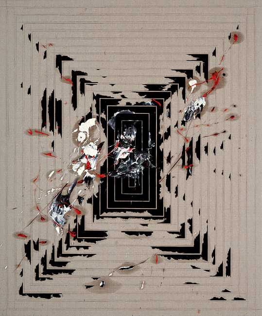 Untitled 1.2 - 198x164cm Olieverf en potlood op linnen