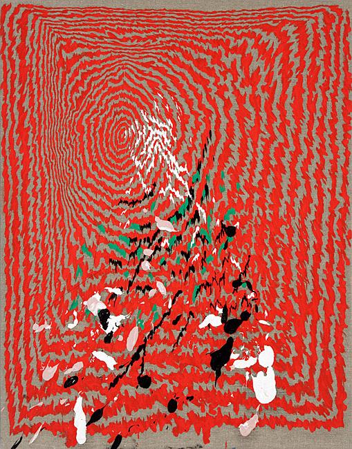 Untitled 1.21 - 95x74cm Olieverf en grafiet op linnen