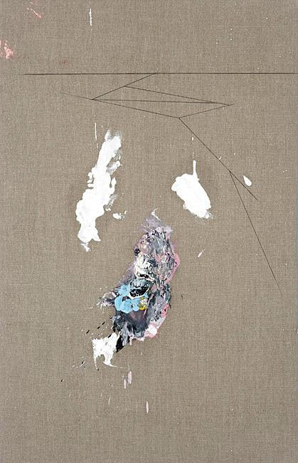 Untitled 1.23 - 100x65cm Olieverf en grafiet op linnen