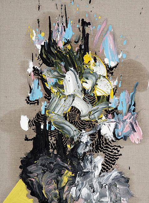 Untitled 1.28 - 76x56cm Olieverf en grafiet op linnen