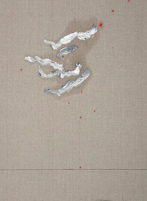 Untitled 1.29 - 76x56cm Olieverf en grafiet op linnen