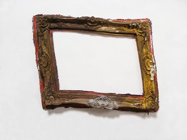 Derrida's Frame Warped - 32x26inch Acrylverf