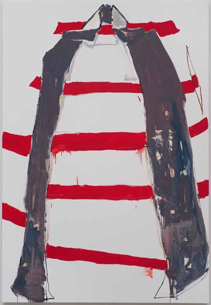 Kimono - 84x58cm Olieverf, was en potlood op linnen