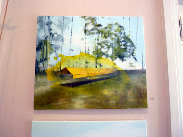 Salla Laurinolli - Small Yellow Shetler - Acryl en olie op doek