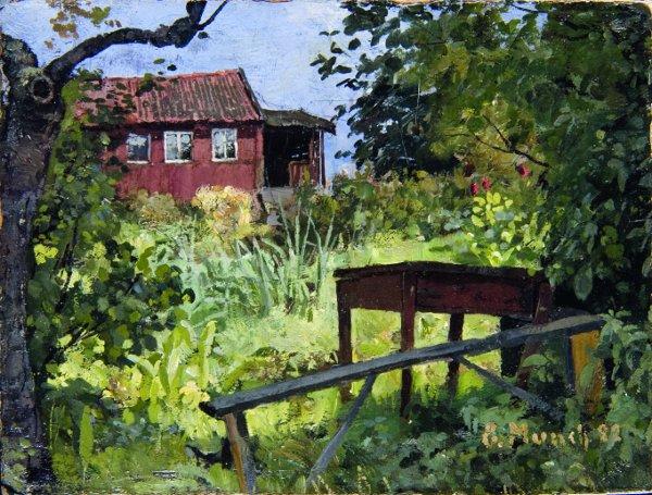 Edvard Munch, Tuin met rood huis, 1882