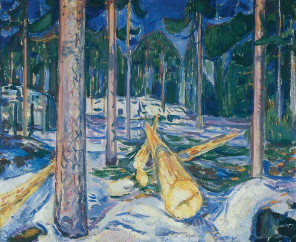 Edvard Munch, De gele boomstam, 1912