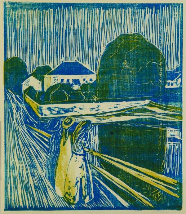 Edvard Munch, Meisjes op de brug, 1918