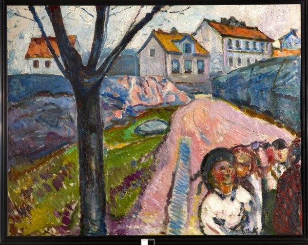 Edvard Munch, Straat in Kragerø, 1910-1911