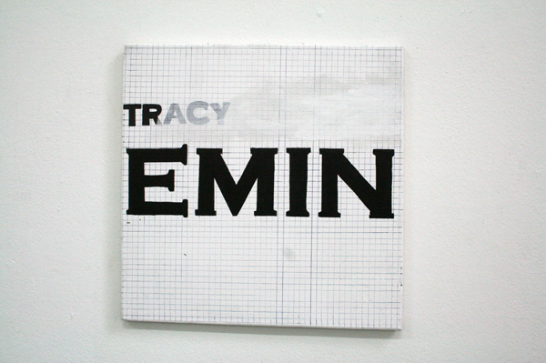 Neil Fortune - Untiteld Tracy Emin) - 50x50cm Acrylverf op canvas