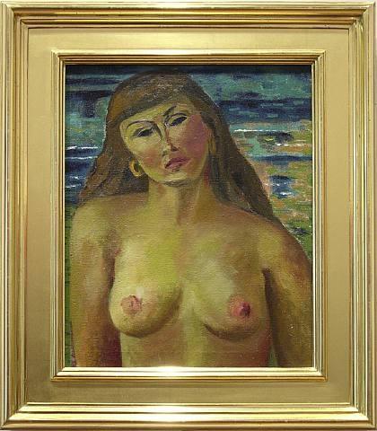 Nude - 51x41cm Olieverf op canvas (vroeg werk, 1947)