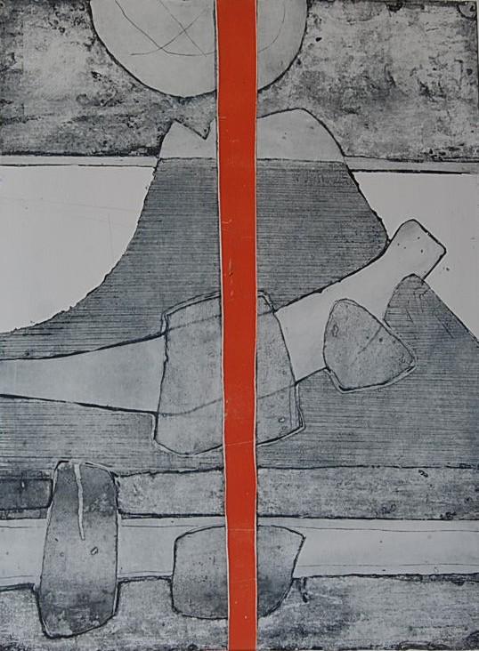 Cees Kortlang, Iceland, 1981, 59,5 x 44 cm, ets