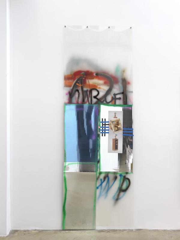 Fassade I (Nofretete, Bibliothek) - 300x102cm Mixed Media