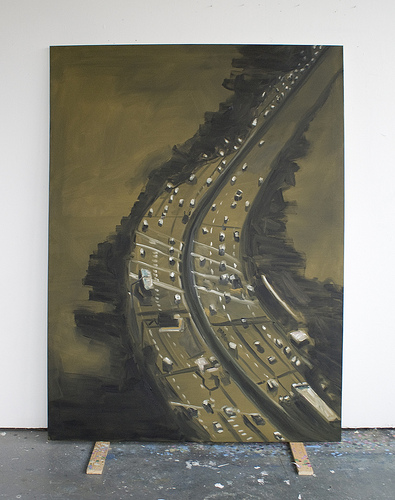 Highway To Hell III - 200x150cm Olieverf op canvas