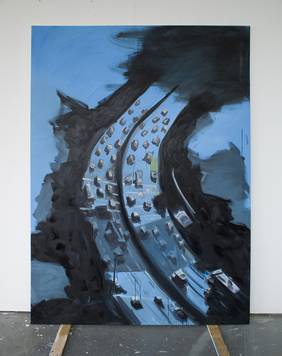 Highway To Hell II - 150x200cm Olieverf op canvas