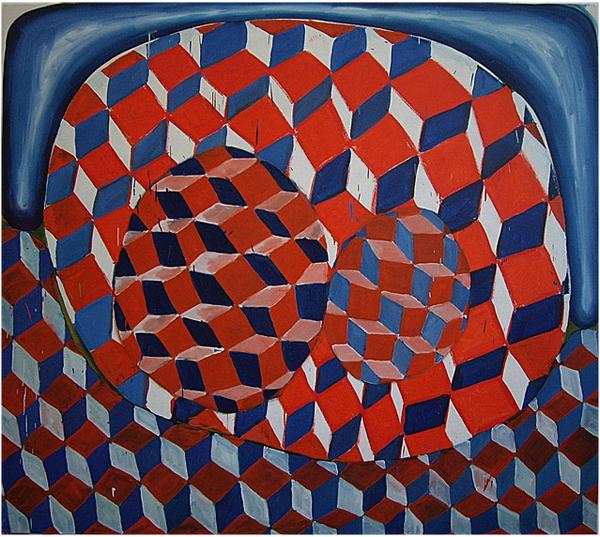 Zonder Titel - 190x170cm Olieverf op canvas