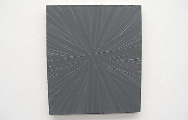 Grau, Strahlen - 50x43cm Olieverf op doek