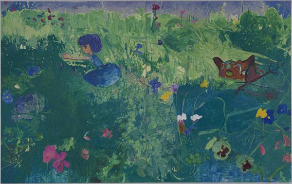 Missing - 90x143inch Olieverf op canvas (2 panelen)