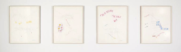 PREPARATORY DRAWINGS FOR GYROSCOPICALLY SPEAKING, NEW YORK CITY - 109x89cm Set van 4 tekeningen