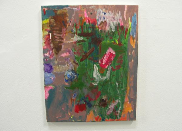 Bas van den Hurk - Untitled - 60x30cm Olieverf en tempera op canvas