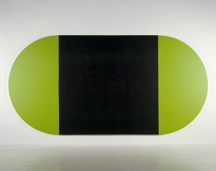 Black Square - 214x428cm Acrylverf op canvas