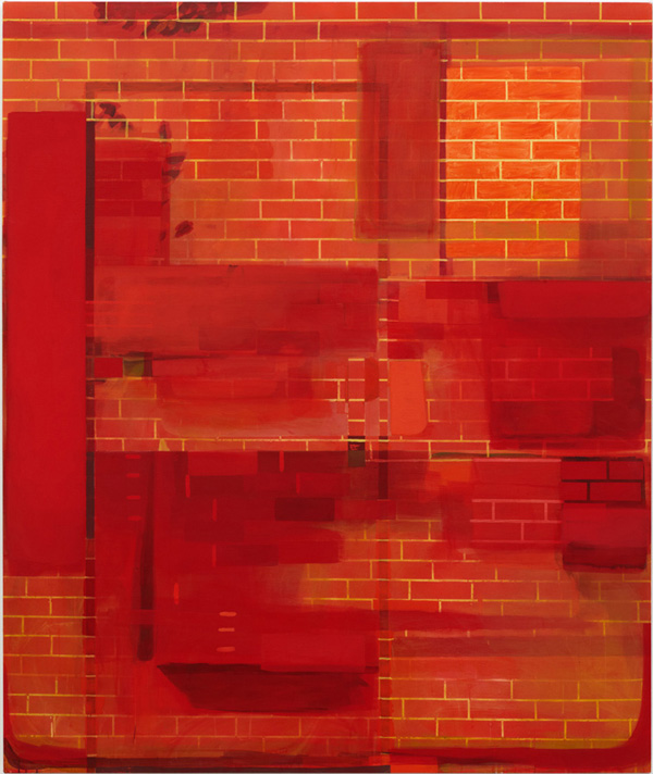Brick Wall - 220x185cm Acrylverf op canvas