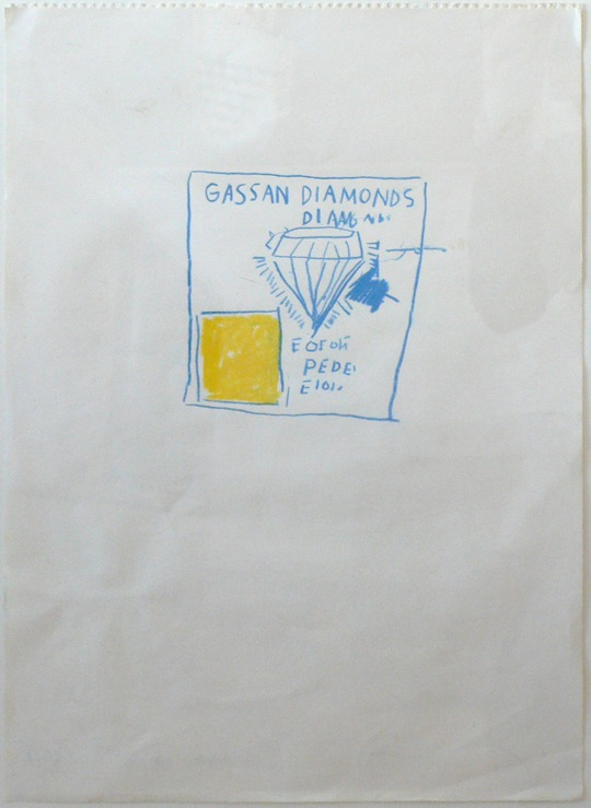 Diamond AD one - 41x30cm Mixed media op papier