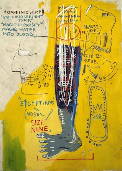 Early Moses - 198x141cm Acrylverf en oliekrijt op canvas