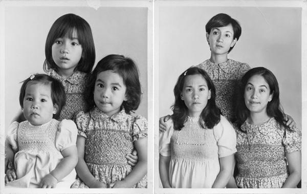Flo, Maria en Dolores in 1979 en 2010