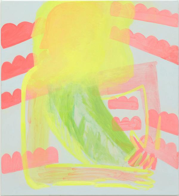 Fluoro Portrait - 109x99cm Acrylverf op linnen