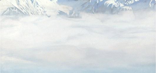 """Mooie ijsbergen zijn niet lelijk. Toch? Nou, een klein beetje misschien. """"Ich und die Berge sind riesige Freunde"""" van Nino Malfatti (1940)."""