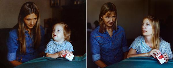 Marita en Coty in 1977 en 2010