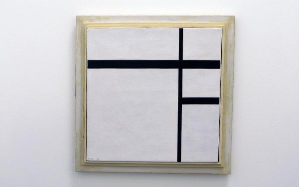 Piet Mondriaan - Compositie met wit en zwart II - Olieverf op doek