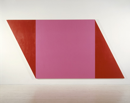 Pink Square - 214x427cm Acrylverf op canvas