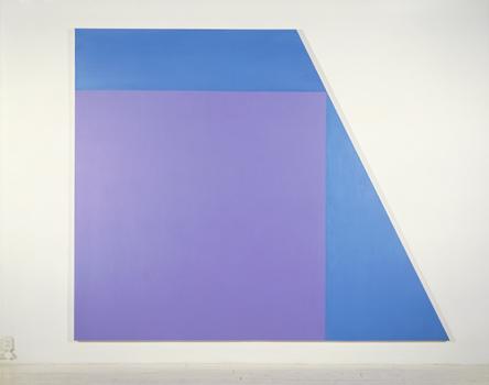 Purple Square - 267x320cm Acrylverf op canvas