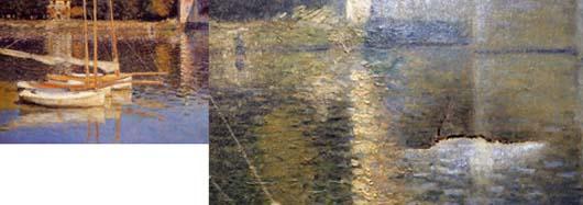 Le Pont d'Argenteuil Monet, omvergelopen door een dronke man