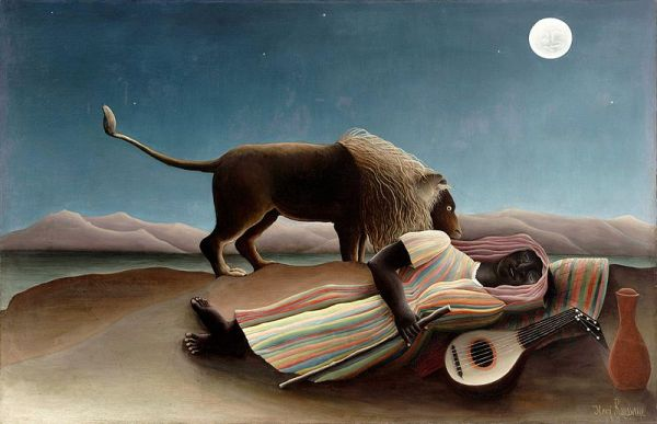 The Sleeping Gypsy - Olieverf op canvas