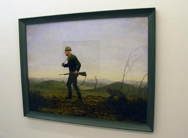 Untitled - 129x169cm Olieverf op zilverprint