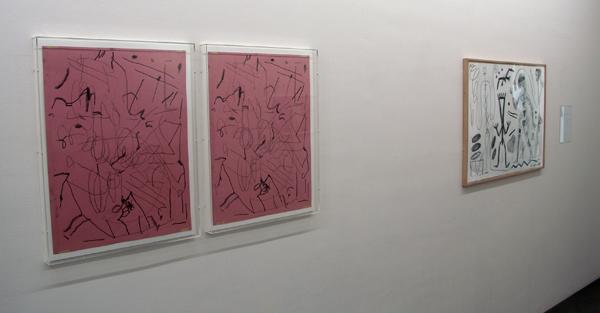 Untitled - 65x65cm Potlood op papier & A.R. Penck - Zonder Titel - 70x100cm op papier